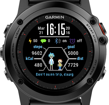 rick and morty watch face garmin connect iq